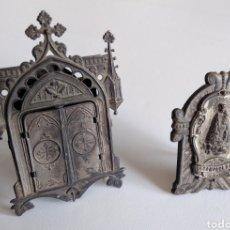 Antigüedades: LOTE DE DOS PEQUEÑAS CAPILLAS- AG1. Lote 195534965