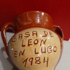Antigüedades: CASA DE KEON EN LUGO 1984 BARRO GALLEGO 13 ANCHO X 12 ALTO. Lote 195536428
