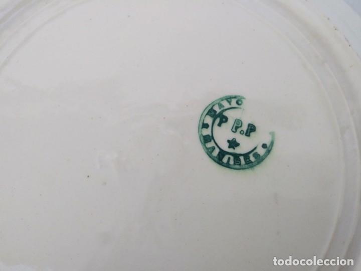 Antigüedades: Plato antiguo con sello de MANISES PPP Valencia - Foto 2 - 195542422