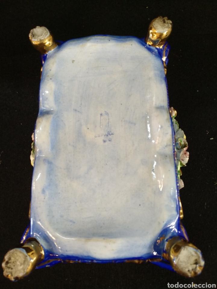 Antigüedades: Caja joyero / bombonera de porcelana Mestre. 20cm x 16cm - Foto 8 - 195543741