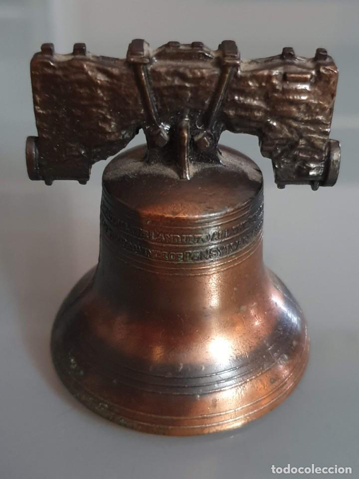 Antigüedades: CAMPANILLA DE BRONCE 6 CM ALTO 5,5 CMDIAMETRO - Foto 2 - 195552770