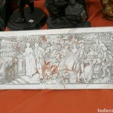 Antigüedades: PLACA CON GRABADO VISITA AL PARQUE COBRE Y PLAQUE DE PLATA. Lote 195556528