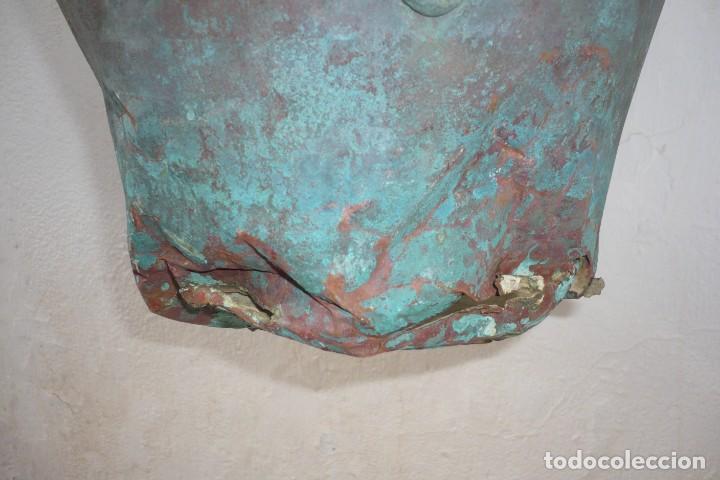 Antigüedades: Antiguo Cubo o Caldero de Cobre y Forja - Foto 9 - 194977618