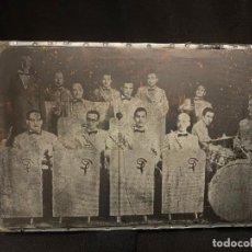 Antigüedades: EXCEPCIONAL PLANCHA O CLICHÉ DE IMPRENTA - ANTIGUA COBLA ORQUESTA, MARAVELLA?, PRINCIPAL?. Lote 195575938