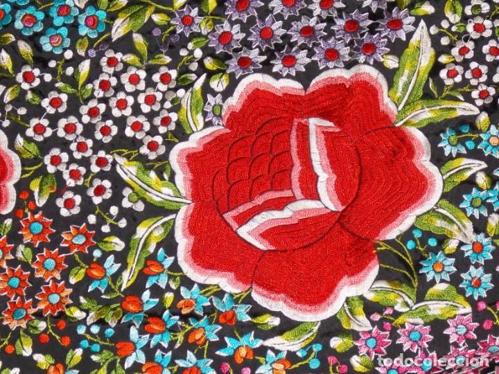 Antigüedades: manton de manila años 60/70 - Foto 8 - 195581623