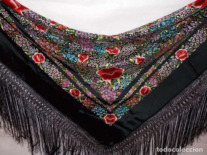Antigüedades: manton de manila años 60/70 - Foto 2 - 195581623