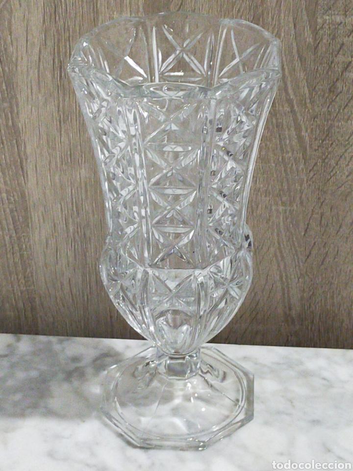 ANTIGUO JARRON EN CRISTAL DE MURANO 27CM (Antigüedades - Cristal y Vidrio - Murano)