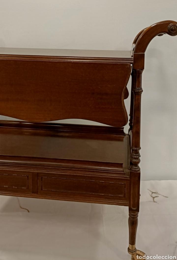 Antigüedades: Camarera de madera con alas abatibles - Foto 3 - 195441236