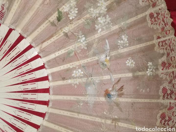 Antigüedades: Espectacular abanico modernista con abaniquero. Años 20 - Foto 7 - 195629343
