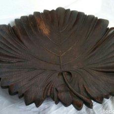 Antigüedades: CENTRO MESA - HOJA EN MADERA - PRECIOSA !!!. Lote 195641732