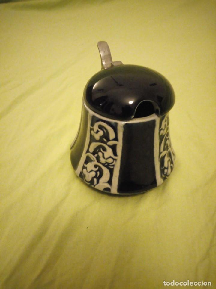 Antigüedades: Antiguo azucarero de porcelana d 3483-delft,azul cobalto y estaño - Foto 3 - 195650431