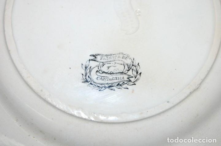 Antigüedades: PLATO EN PORCELANA CARTAGENA - Foto 5 - 195663256