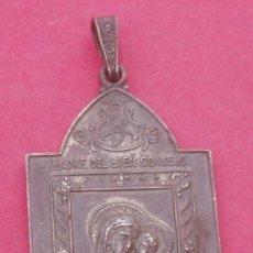 Antigüedades: MEDALLA ANTIGUA VIRGEN DEL BUEN CONSEJO Y SAN FRANCISCO DE ASÍS. LECÁROZ. BAZTÁN. NAVARRA.. Lote 195670623