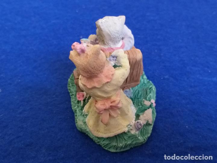 Antigüedades: Figura de gatos. Altura 6 cm - Foto 8 - 195684888