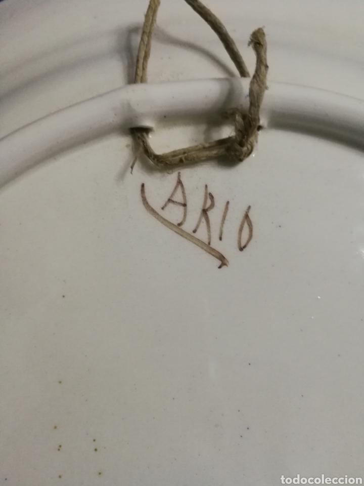 Antigüedades: Plato porcelana flores lario lorca murcia - Foto 4 - 195691758