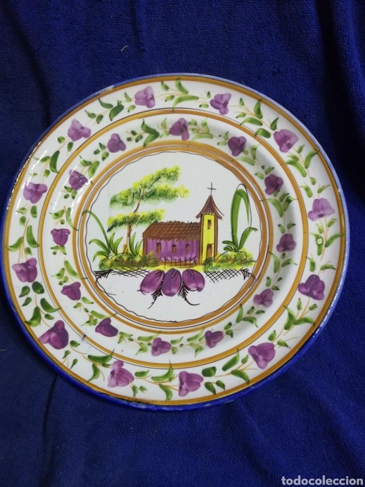 PLATO PORCELANA IGLESIA LARIO LORCA MURCIA (Antigüedades - Porcelanas y Cerámicas - Lario)