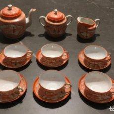 Antigüedades: ANTIGUO JUEGO DE TÉ O CAFÉ DE PORCELANA CHINA. SEIS SERVICIOS. Lote 195697660