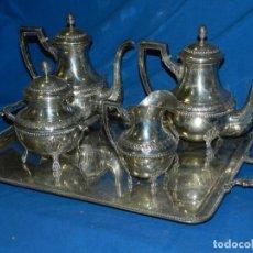 Antigüedades: (M) JUEGO DE CAFÉ ANTIGUO DE PLATA - PESO 2.483 GRAMOS, MARCAS DE PLATA. Lote 195699186