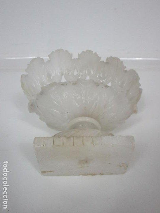 Antigüedades: Bonita Copa Isabelina - Alabastro - con Fino Calado y Talla - muy Buena Calidad - S. XIX - Foto 5 - 195715443