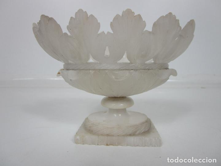 Antigüedades: Bonita Copa Isabelina - Alabastro - con Fino Calado y Talla - muy Buena Calidad - S. XIX - Foto 11 - 195715443