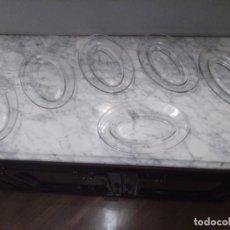 Antigüedades: LOTE 6 BANDEJAS PARA APERITIVOS. MARCA DURALEX.. Lote 195727638