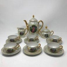 Antigüedades: SANTA CLARA - JUEGO DE CAFÉ. Lote 195748838