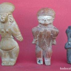 Antigüedades: ÍDOLOS PRECOLOMBINOS DE TERRACOTA REPRODUCCIONES DE CALIDAD. EQUADOR.. Lote 195760071