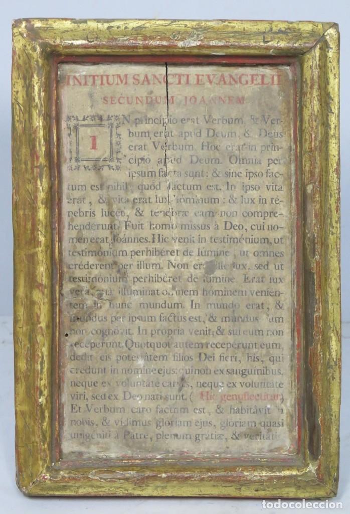 ANTIGUA SACRA DE MADERA DE ROBLE. SIGLO XVII-XVIII (Antigüedades - Religiosas - Ornamentos Antiguos)