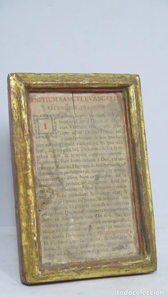 Antigüedades: ANTIGUA SACRA DE MADERA DE ROBLE. SIGLO XVII-XVIII - Foto 2 - 195776261