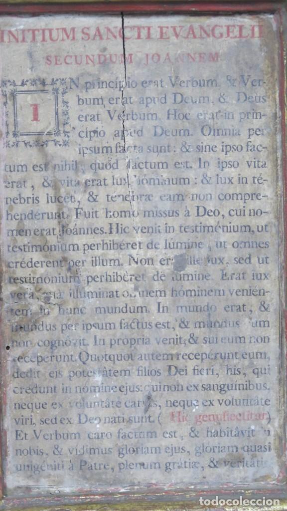 Antigüedades: ANTIGUA SACRA DE MADERA DE ROBLE. SIGLO XVII-XVIII - Foto 4 - 195776261