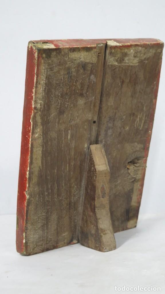 Antigüedades: ANTIGUA SACRA DE MADERA DE ROBLE. SIGLO XVII-XVIII - Foto 5 - 195776261
