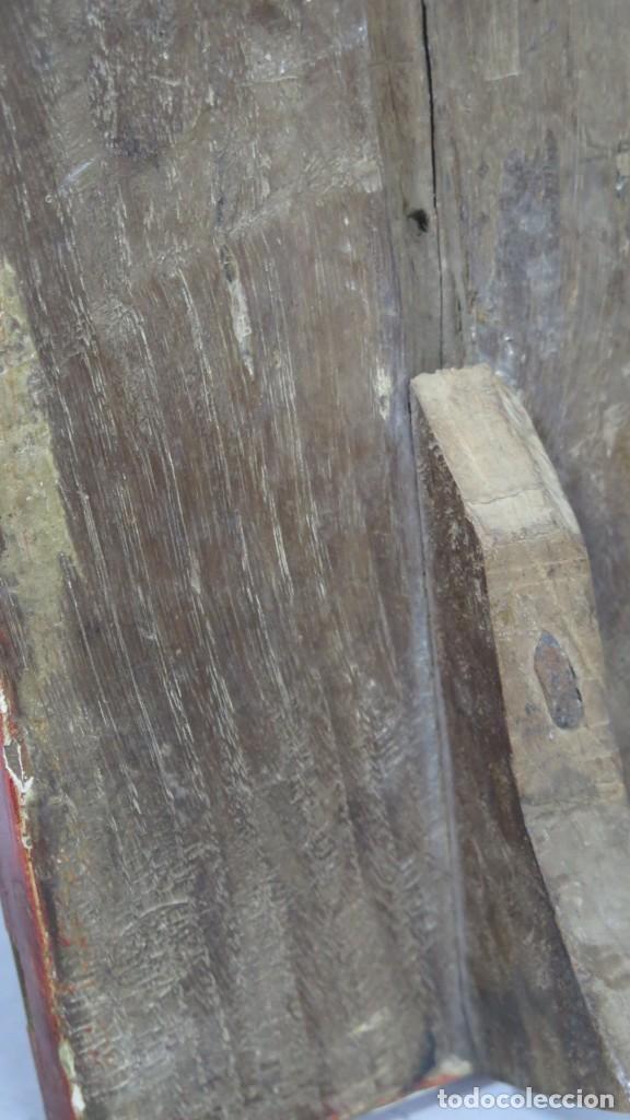 Antigüedades: ANTIGUA SACRA DE MADERA DE ROBLE. SIGLO XVII-XVIII - Foto 6 - 195776261