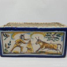 Antigüedades: MUY BONITO JAZMINERO EN CERAMICA POLICROMADA DE TRIANA,(SEVILLA),S. XIX . Lote 195788302
