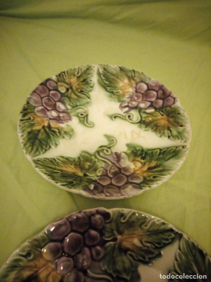 Antigüedades: Antiguos platos en cerámica Mayolica ,siglo XIX oprincipios del XX, - Foto 3 - 195788752