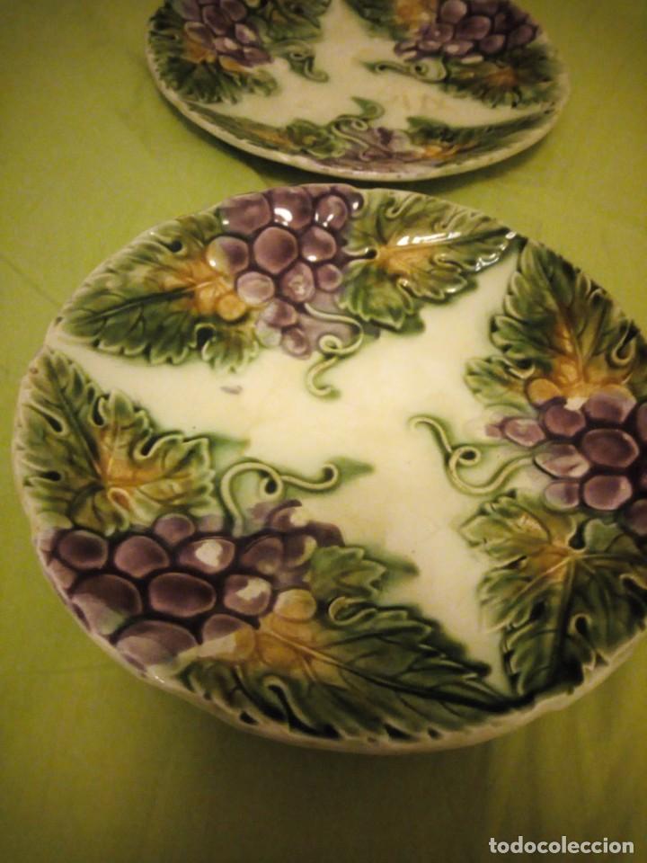 Antigüedades: Antiguos platos en cerámica Mayolica ,siglo XIX oprincipios del XX, - Foto 4 - 195788752