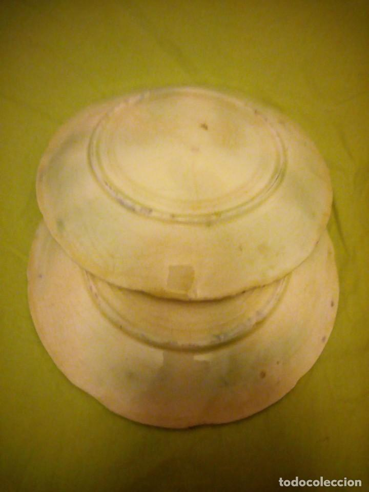 Antigüedades: Antiguos platos en cerámica Mayolica ,siglo XIX oprincipios del XX, - Foto 7 - 195788752