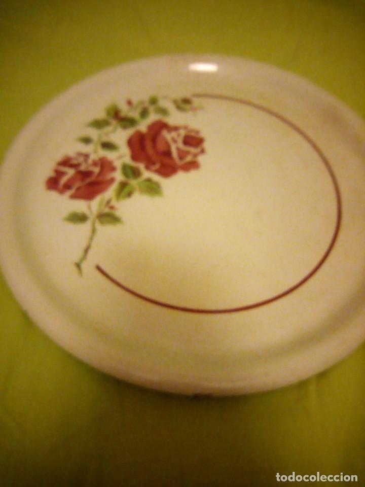 Antigüedades: Antiguo plato tartero de ceramica ivonne k&g luneville france,finales del siglo xix - Foto 2 - 195798272