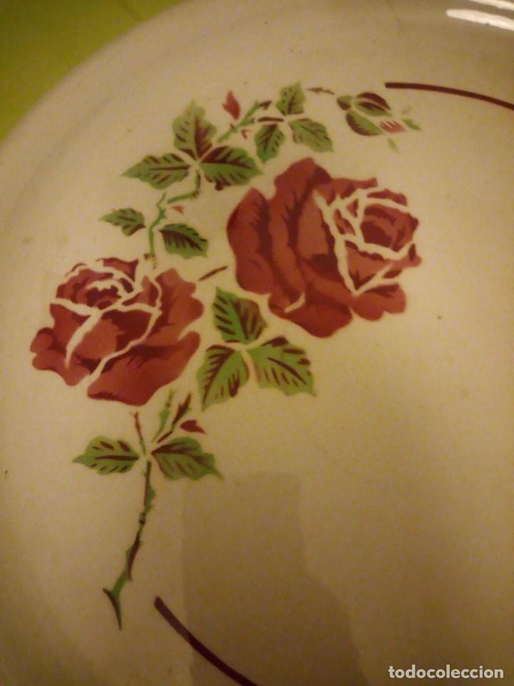 Antigüedades: Antiguo plato tartero de ceramica ivonne k&g luneville france,finales del siglo xix - Foto 4 - 195798272