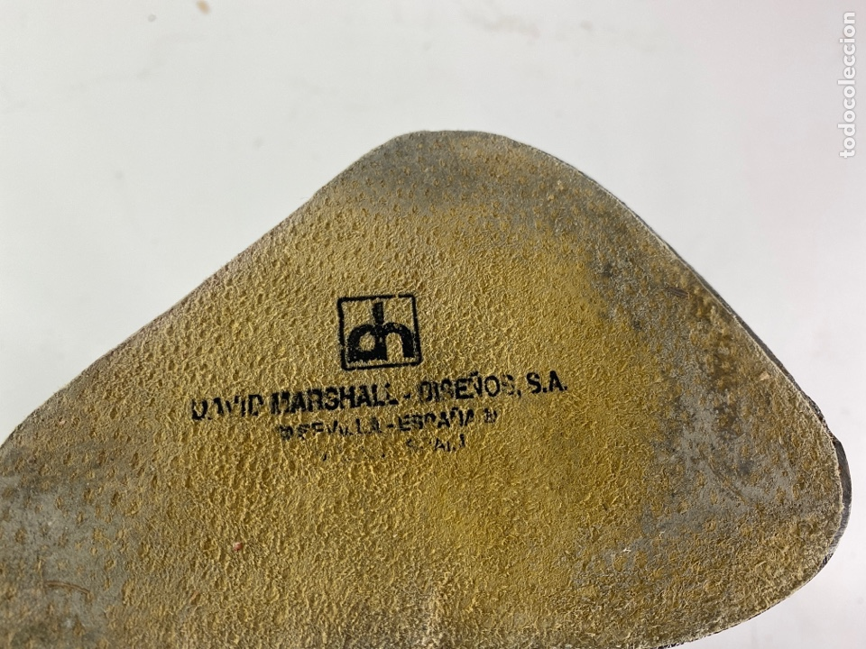 Antigüedades: CANDELABRO DE METAL PLATEADO. DAVID MARSHALL. ESPAÑA. S.XX. - Foto 5 - 195800865