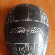 Antigüedades: ESCARABAJO EN PIEDRA NEGRA BASALTO? - ADQUIRIDO EN EGIPTO. Lote 195823655