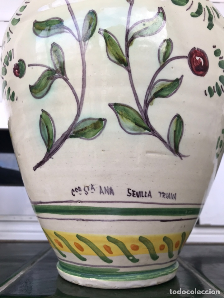 Antigüedades: BOTIJO REAL BETIS BALOMPIÉ Y GIRALDA. CERÁMICA SANTA ANA TRIANA. SEVILLA. - Foto 16 - 195855226