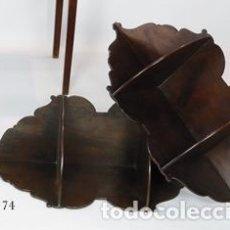 Antigüedades: PAREJA DE REPISAS ESQUINERAS ESPAÑOLAS.. Lote 195863615