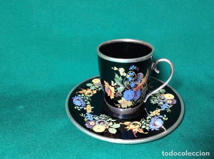 Antigüedades: Juego de café de plata y esmalte - Foto 3 - 195877791