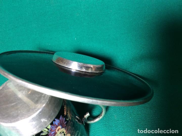 Antigüedades: Juego de café de plata y esmalte - Foto 5 - 195877791