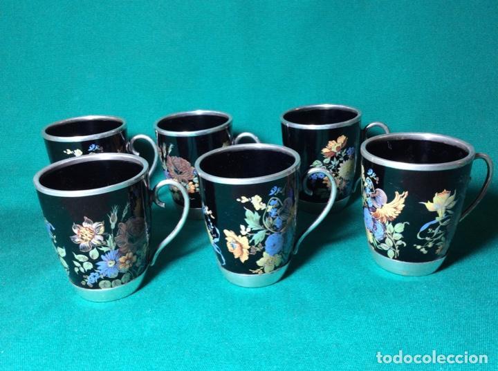 Antigüedades: Juego de café de plata y esmalte - Foto 11 - 195877791