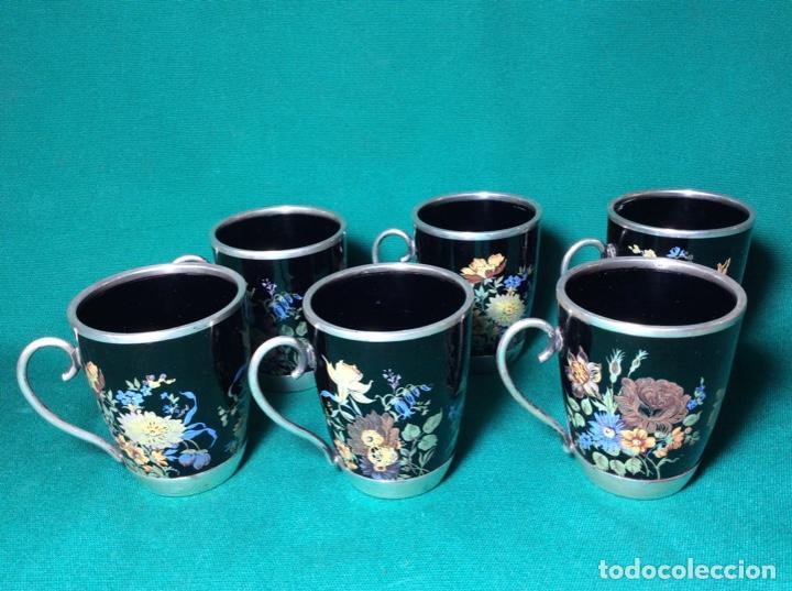 Antigüedades: Juego de café de plata y esmalte - Foto 12 - 195877791