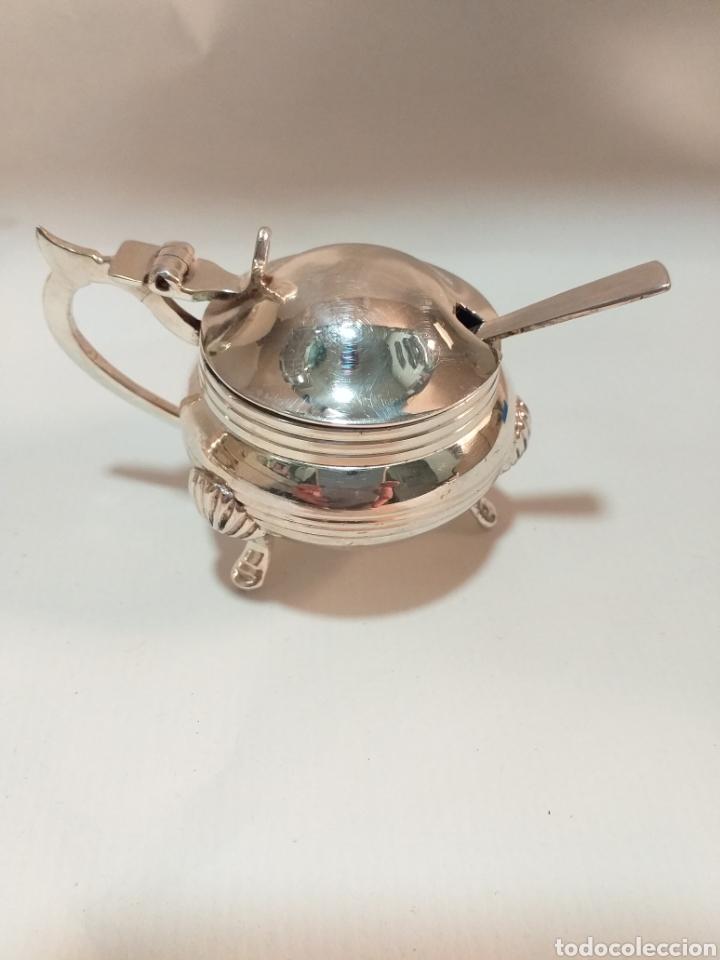 Antigüedades: Juego de saleros plata electrochapada - Foto 3 - 195887523