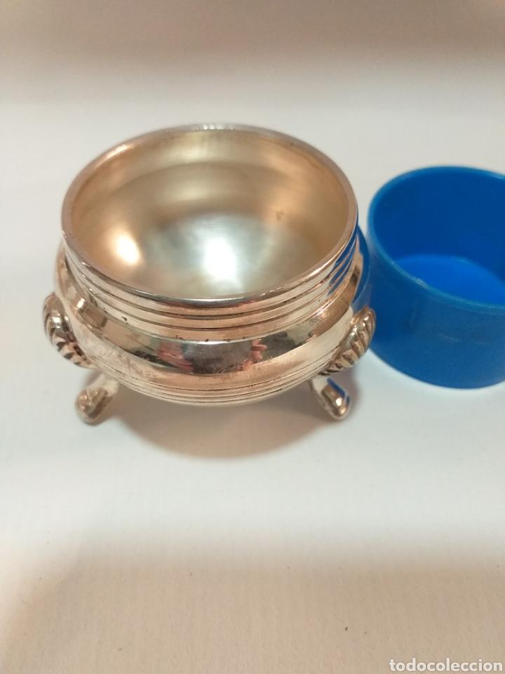 Antigüedades: Juego de saleros plata electrochapada - Foto 4 - 195887523