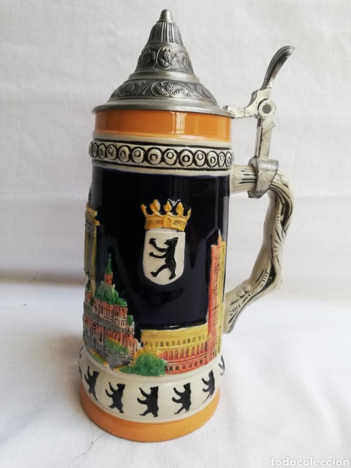 JARRA CERVEZA ALEMANA EN CERAMICA. BERLIN. MARCA GERZ. (Antigüedades - Porcelana y Cerámica - Alemana - Meissen)