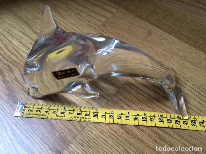 Antigüedades: Delfin de cristal soplado, de Murano, Circa 1960 - Foto 2 - 195909023
